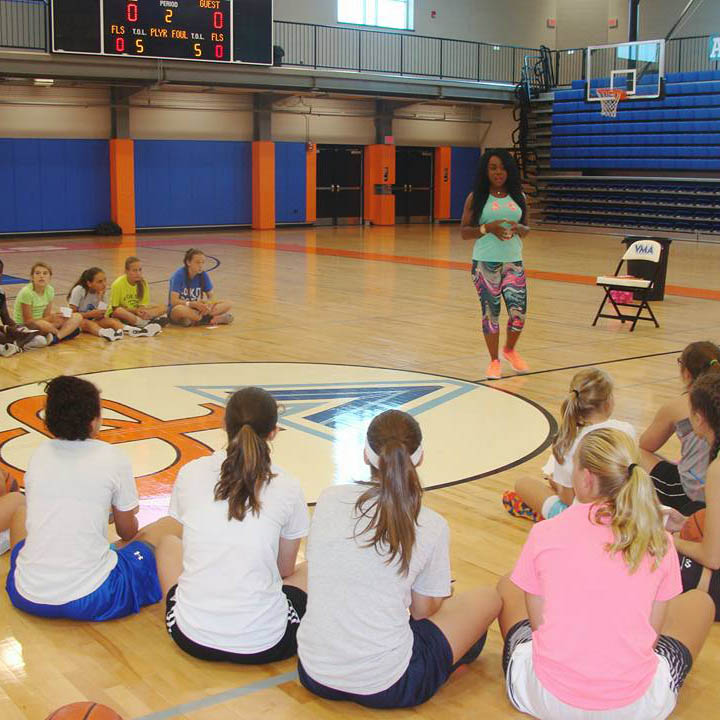 Speaking for Wnba Super Star Kala Mcbride at Her Basketball Camp