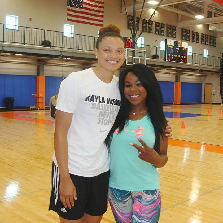 Shawnta' Pulliam and Wnba Star Kala Mcbride
